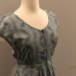 Patterned Zipper Dress
